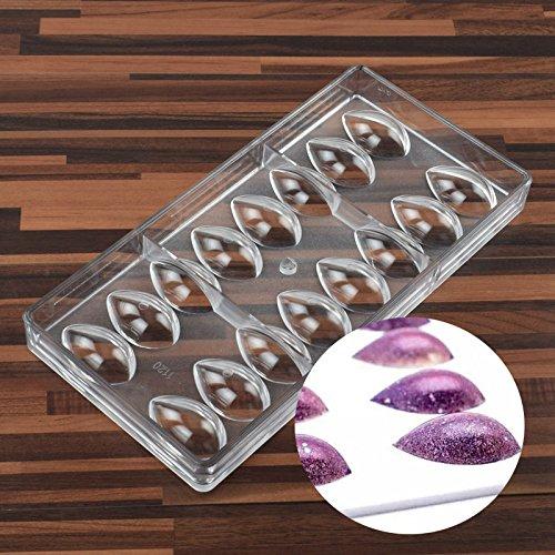 SODIAL Lotus Forme PC Polycarbonate Moule a Chocolat 3D Moule a Chocolat Alimentaire Outils de Cuisine Outils de Moule de Cuisson