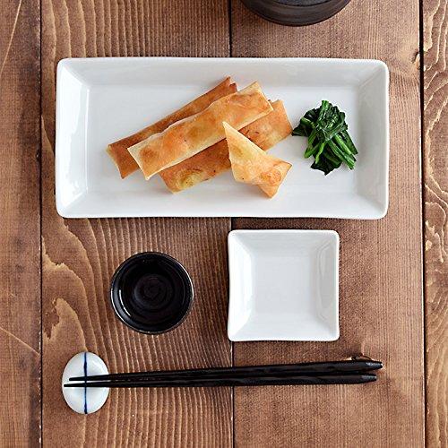 白い食器EASTオリジナルスクエアプレート(ハーフ)(STUDIOBASIC)