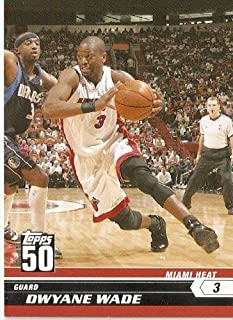 f433f2163b4 2007-08 (2008) Topps 50th Anniversary Limited Edition # 6 Dwyane Wade /