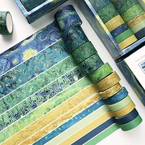Juego De Rollos De Cinta Washi Vintage Washi Glitter Cinta Decorativa Diy Craft Scrapbooking Cinta Decorativa DIY Cintas Washi Para Scrapbooking, Journal, Planificador, Envoltura De Regalos, Tarjetas