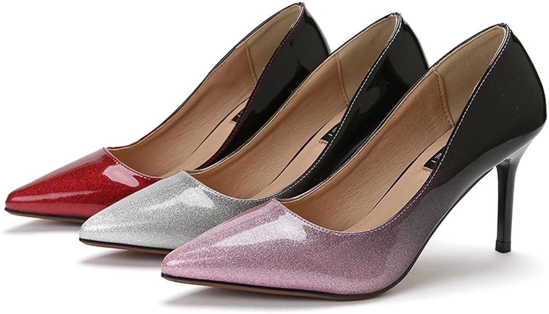 RUGAI-UE Pumps Fashionable High Heels Fine Heel Pointed shoes Single shoes