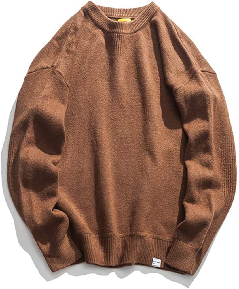 Men's Vintage Loose Knitted Chunky Turtleneck Pullover Sweater