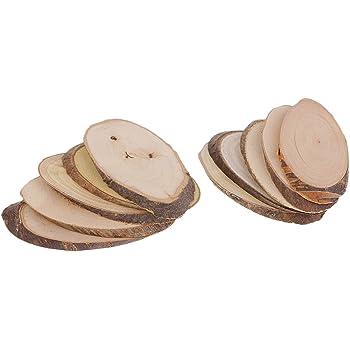 90mm Natural Wood Log Slice Wedding Decor Rustic Wooden Embellishments 7mm