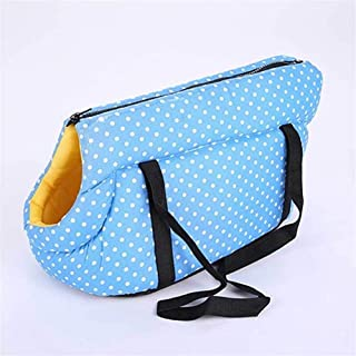 Venxuis Dot Soft Pet Backpack Dog Shoulder Bags Outdoor Pet Dog Carrier Puppy Travel for Small Dogs Pet Products For travel, going out (Color : Light Blue, Size : 40 x 25 x 28 cm)