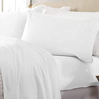 Great Bay Home Extra Soft 100% Turkish Cotton Flannel Sheet Set. Warm, Cozy, Lightweight, Luxury Winter Bed Sheets in Solid Colors. Nordic Collection (Queen, Winter White)