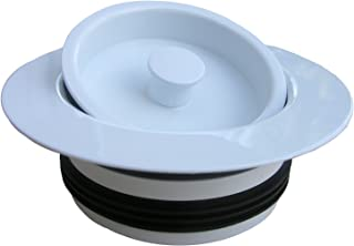 LASCO 03-1075W Heavy Duty PVC Body Universal Disposal Stopper and Flange White Finish