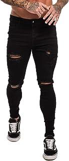 GINGTTO - jeans ajustados para hombre