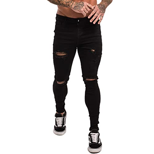 557d41a4df6 GINGTTO Skinny Jeans for Men Stretch Slim Fit Ripped Distressed