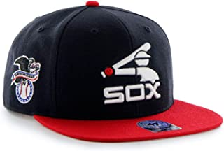 Chicago White Sox MLB Cooperstown Navy Sure Shot Two Tone 47 Brand Flat Bill Snapback Hat