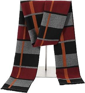 Scarves for men Men's Wool Scarf Reversible Elegant Classical Warm Cashmere Delicate Scarves Scarf (Color : Orange, Size :...