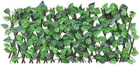 Het uitbreiden van Houten Omheining Artificial Green Vine Cimbing Hedge Restaurant Mall Privacy Screen decor van de huismu...