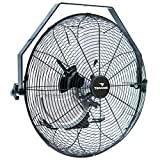 Tornado - 18 Inch High Velocity Industrial Wall Fan - 4000 CFM - 3 Speed - 6.5 FT Cord - Industrial, Commercial, Residential Use - UL Safety Listed
