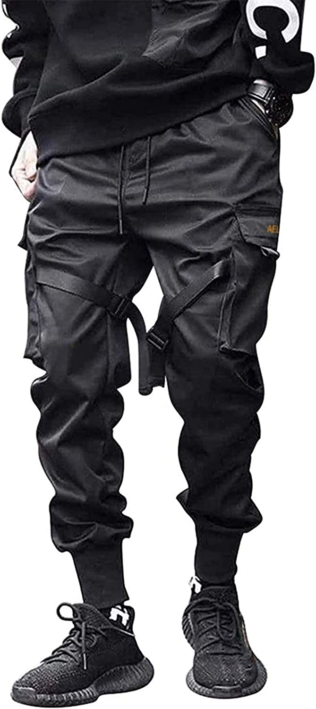 Mens Streetwear Hip Hop Cargo Pants Joggers Pant for Men Youth Loose Casual Pants Sports Multi-Pocket Sweatpants