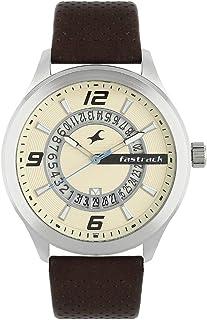 Fastrack Men Beige Analogue Watch 38050SL01
