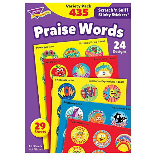Praise Words Stinky Stickers Variety Pack, 435 Ct
