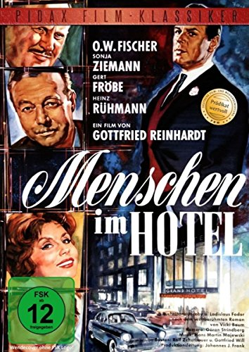 Menschen im Hotel - Ausgezeichnete Verfilmung des Weltbestsellers mit Heinz Rühmann, Gert Fröbe und O.W. Fischer (Pidax Film-Kl