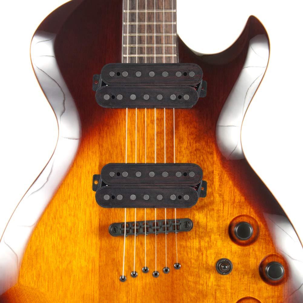 Guitarra eléctrica Puente de 7 cuerdas y pastilla doble de mástil ...