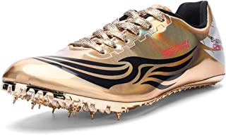 Men's Women's Track & Field Shoes Spikes Running Training Sneakers Lightweight Jumping Athletics Track Shoes with Spikes for Youth, Kids, Boys and Girls