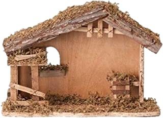 10 Inch High 13 Inch Wide Fontanini Nativity Stable - By Roman 5 Inch Scale