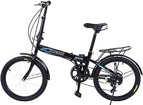 Folding Bike for Adults Men and Women 7 Speed Lightweight Mini Folding Bike with V Brake