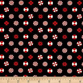 FreeSpirit Fabrics Tula Pink Holiday Homies Peppermint Stars, Ink