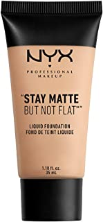 NYX PROFESSIONAL MAKEUP Stay Matte but not Flat Liquid Foundation, Creamy Natural, 1.18 Fl Oz