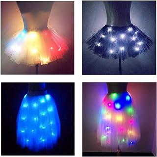 SHINYOU Women Tutu Skirt LED Light Up Ballet Dance Running Skirt