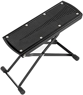 Guitar Foot Rest Stool Adjustable Height Angle Non-slip Rubber Pad Footrest Footstool Excellent Stability Black For Classi...