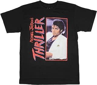 Men's Michael Jackson Thriller Album Photo Black Graphic T-Shirt