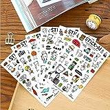 BLOUR 6 unids/LoteSerie de Dibujos Animados Steve Bear PVC Etiqueta Set decoración Etiqueta Scrapbooking Pegatinas útiles Escolares de Oficina