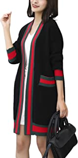 D.B.M Women's Loose Casual Long Sleeve Knit Cardigan Without Buckle Sweater