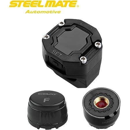 Tpms Motorrad Reifendruckkontrollsystem Mit 2 Sensor Lcd Display Anti Diebstahl Wasserdicht Reifendrucküberwachung Reifendruck Autoalarmsyste Auto