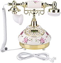 Tosuny Corded Phone, Desk Phone MS-9101 Vintage Retro Imitation Antique Telephone with Caller ID System Wired Telephone fo... photo