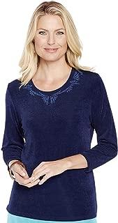 Amber Ladies Womens Slinky 3/4 Sleeve Top
