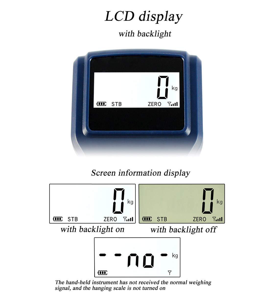 NEWTRY Elektronische Kranwaage 10T//10000KG Industriewaage Kabellos Digitale H/ängewaage LED Bildschirm mit Fernbedienung