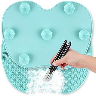 براش تمیز کننده برس آرایش Ranphykx تمیز کننده برس آرایشی 9x6.6 اینچ سایز بزرگ پد لوازم آرایشی و بهداشتی برس تمیز کننده ابزار قابل شستشو اسکرابر با ساکشن