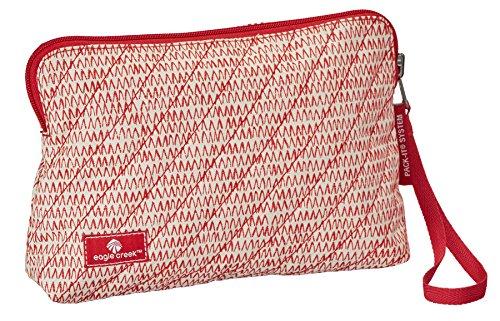 Eagle Creek Kosmetikbeutel Pack-It Original Quilted Reversible Wristlet Wendetasche für Hygieneartikel, repeak red