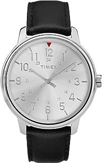 Timex Orologio Analogico Quarzo Uomo con Cinturino in Pelle