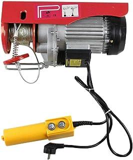 Cabestrante eléctrico, polipasto, cuerda, elevador eléctrico, 500 kg/1000 kg, 12 m/6 m, cabrestante con mando a distancia por cable