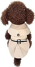 Tutuba Dog Fleece Jacket British Style Trench Coat Warm Cold Weather Coat For Small Dog