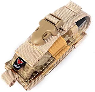 vAv YAKEDA Tactical Molle Single Pistol Mag Pouch 1000D Nylon Carry All Folding Knife Belt Sheath