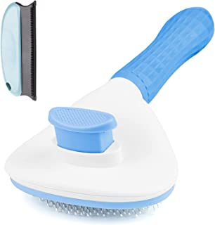 Aumuca Cat Brush and Dog Brush with Long or Short Hair Self Cleaning Slicker Brush for Shedding and Grooming