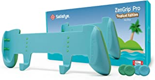Satisfye Zengrip Pro Tropical Edition (Blue), Accessories Compatible With Nintendo Switch - Comfortable & Ergonomic Grip, ...