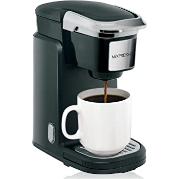 Mixpresso Single Cup Coffee Maker | Personal, Single Serve Coffee Brewer Machine, Compatible with K-Cups | Quick Brew Technology, Programmable Features, One Touch Function Black