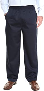 Men's Full Elastic Waist Twill Casual Pant