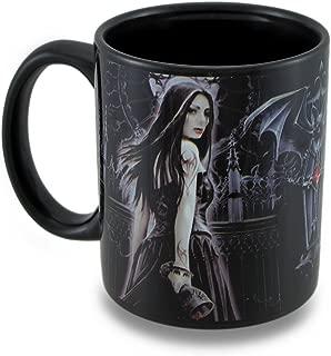 Ceramic Novelty Coffee Mugs Anne Stokes Gothic Sirens Black Ceramic Coffee/Tea Mug 12 Oz. 3.25 X 3.75 X 3.25 Inches Black