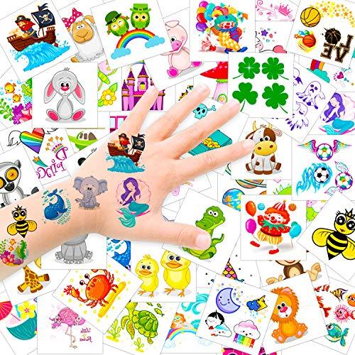 Konsait Tatuajes Temporales para Niños Niñas, 50 Hojas Tat