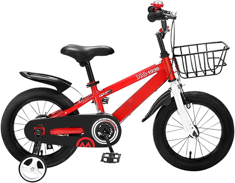 YTBLF Vélo vélo vélo pour Enfants 2-3-6 Ans Enfants de Sexe Masculin et féminin vélo Landau 12 14 16 Pouces, avec Panier