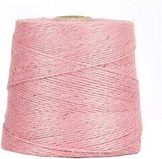 Jutegarn, Pink, 1 kg, ca. 500 m Juteschnur, 100% Jute, auf Pappspule