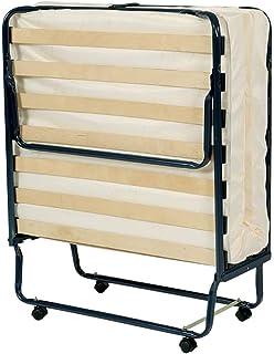 AltoBuy Confort - Lit Pliant à roulettes 90x190cm 17 Lattes